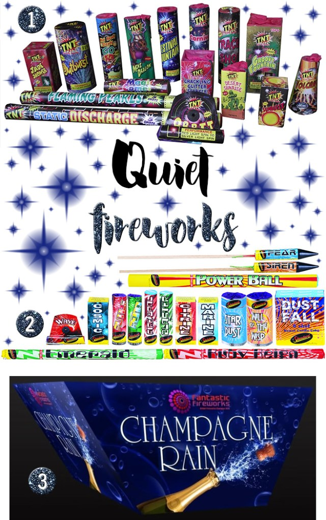 Selection of quiet fireworks | H is for Home