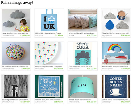 'Rain, rain, go away' Etsy List curated by H is for Home