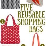 Gimme Five! Reusable shopping bags