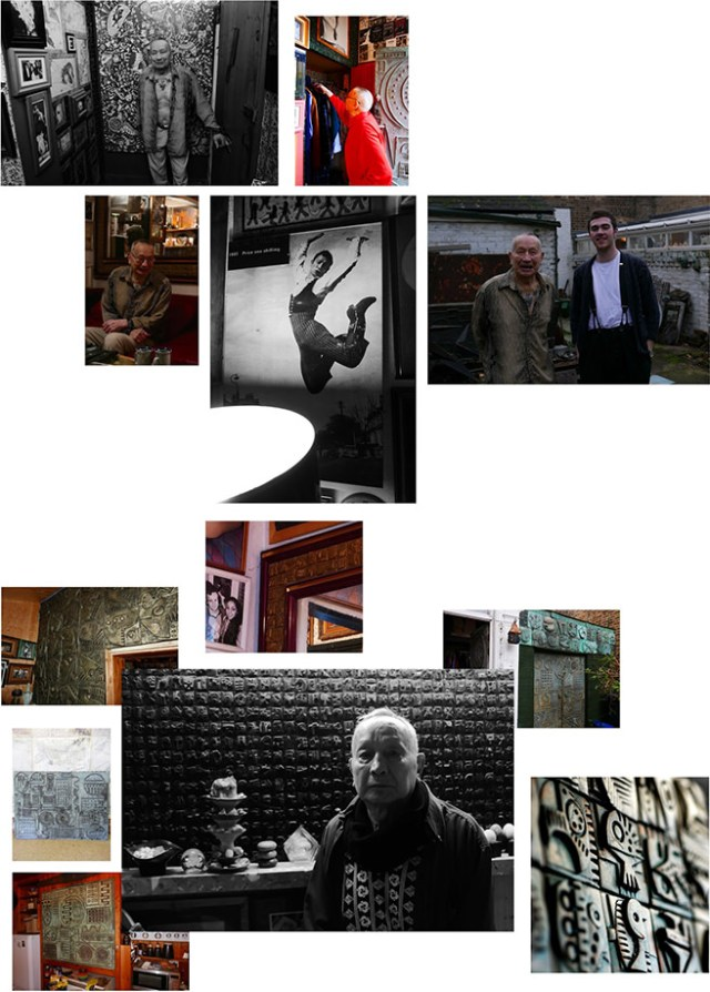 Collage of portraits of Ron Hitchins