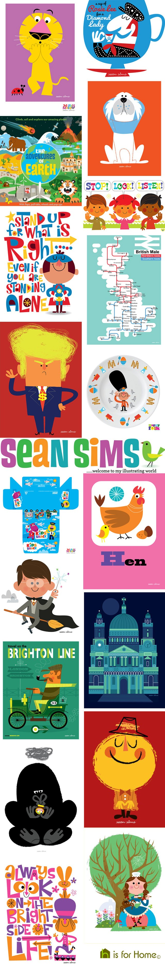 Mosaic of Sean Sims designs | H is for Home