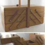 Charity Vintage: wooden sewing box