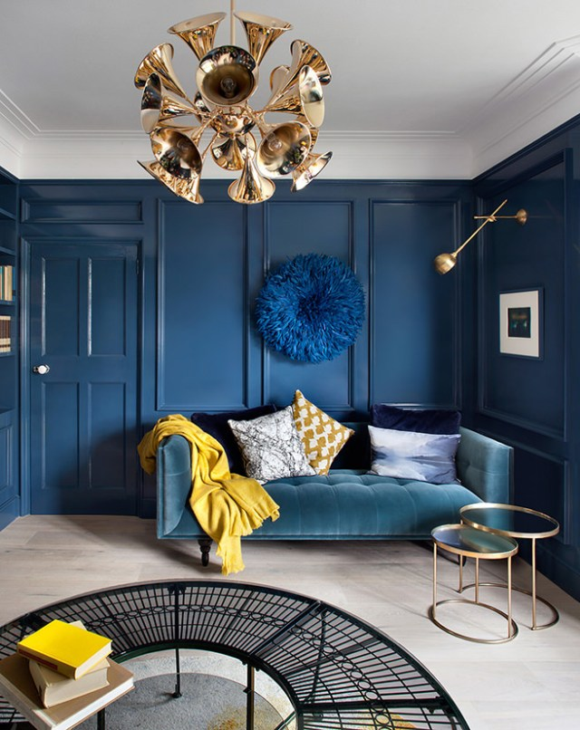 Shades of blue sitting room