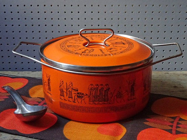Orange vintage Siltal saucepan | H is for Home
