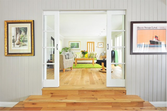 Interior glazed sliding doors