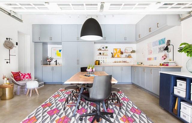Storage-ful home studio