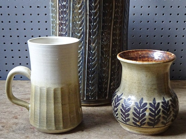 Three pieces of vintage Iden pottery | H is for Home