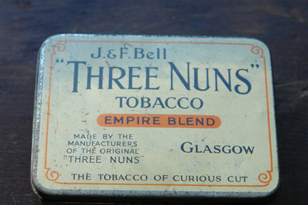 Vintage J & F Bell Three Nuns tobacco tin | H is for Home