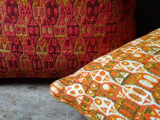 Vintage Tibor Reich fabric cushions | H is for Home