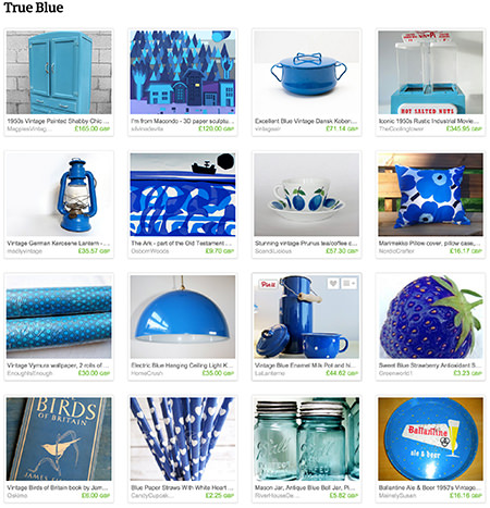 'True Blue' Etsy list