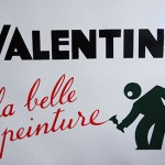 Valentine enamel sign