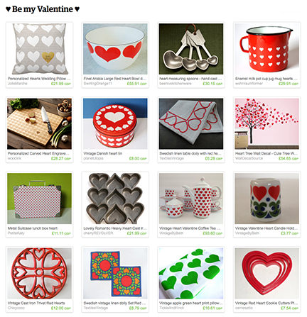 'Be my Valentine' Etsy List from H is for Home