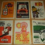 Charity Vintage: Dutch Shell Oil vintage sugar packets