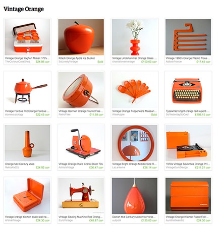 'Vintage Orange' curated by H is for Home