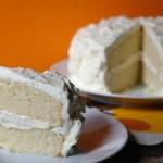 Cakes & Bakes: White velvet cake with creamy mascarpone frosting