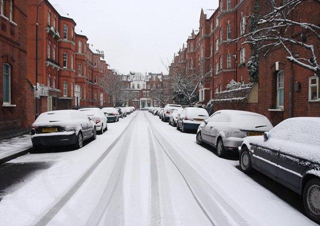 Wintry street