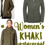Price Points: Women's khaki waterproof coats