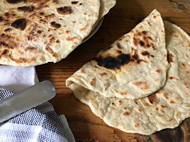 Yeasted flat breads