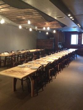 Tables for E2 Restaurant, Pittsburgh