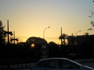 soluppgång över campus