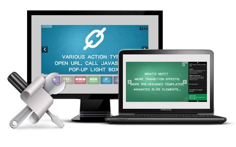Powerful custom tools to design wonderful photo slideshow