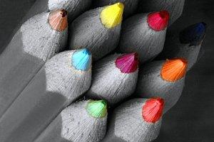 灰度加七色方法
