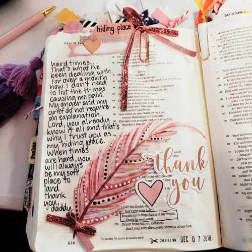 Feeling heartbroken, grief, hopeless or any other type of pain? Find out what I discovered and where I hide. #hidingplace #hispalette #biblejournaling #illustratedfaith #faith #helpforgrief #helpforgrieving #helpforheartbreak  #creative #mixedmedia #God #conquerpain #holidaydepression #christmasdepression