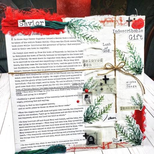 bible journaling gift example