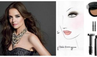 Detalles del maquillaje de Katie Holmes