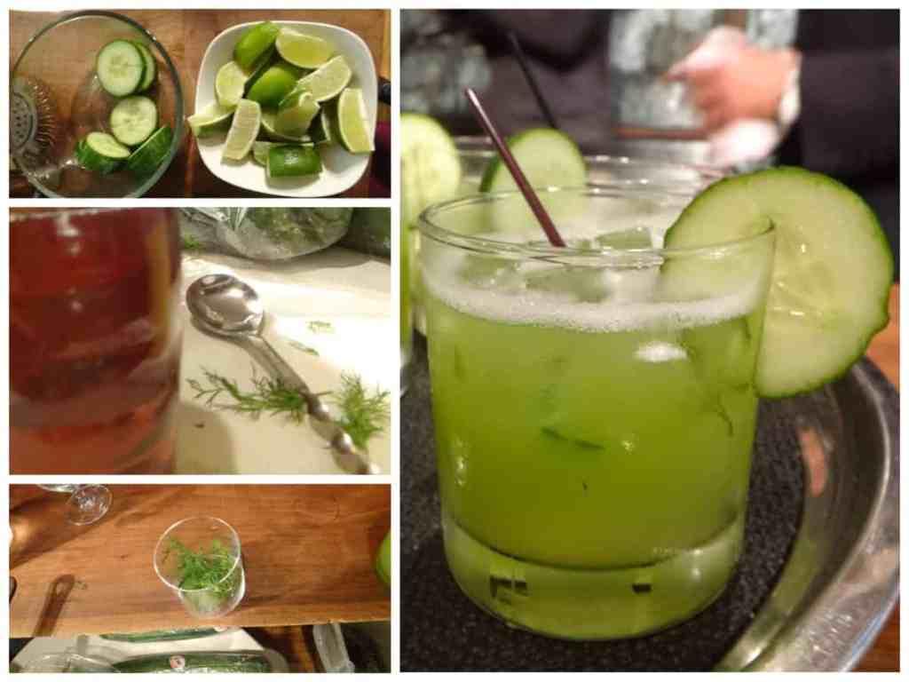 Refrescante limonada con pepino