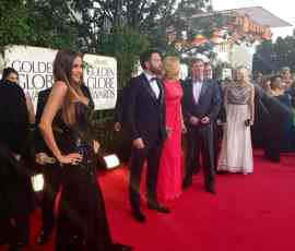 Sofia Vergara en Golden Globes 2013, foto Twitter de Latin WE