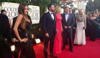 Sofia Vergara en Golden Globes 2013, foto Twitter de Latin WE