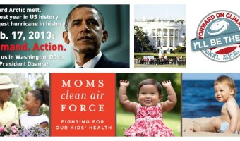 rally por cambio climático con Moms Clean Air Force