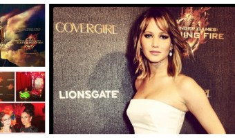 Jennifer Lawrence en evento de Catching Fire y Covergirl
