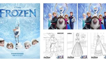 Dibujos para colorear y actividades para niños de la película Frozen