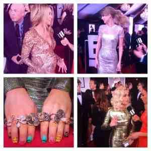 Moda metálica en los Grammys 2014