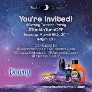 Downy Twitter Party #tuckinturnoff
