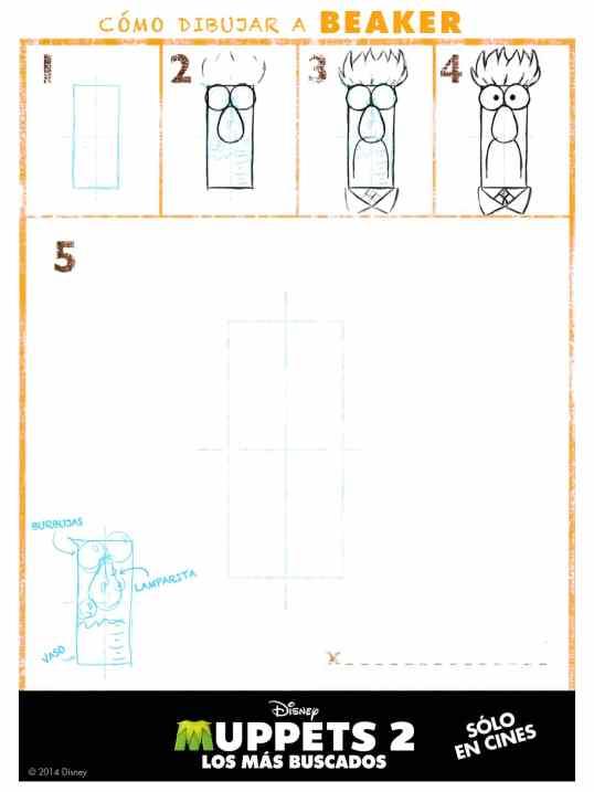 Cómo dibujar Beaker de los Muppets