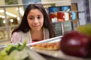 Middle schooler cafeteria