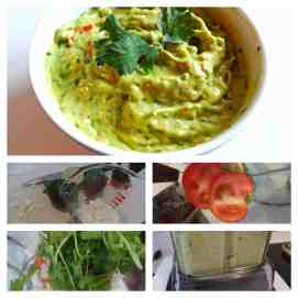 Vitamix Guacamole step by step