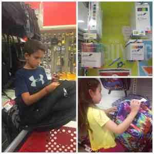 Comprando útiles escolares en Target