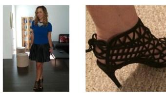 Qué me puse hoy: falda de cuero con top azul