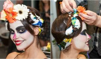 Maquillaje y peinado de Catrina para el Día de los Muertos