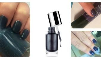 Bellos esmaltes de uñas en tonos oscuros
