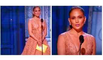 Detalles del maquillaje y peinado de Jennifer López en los Premios Oscar