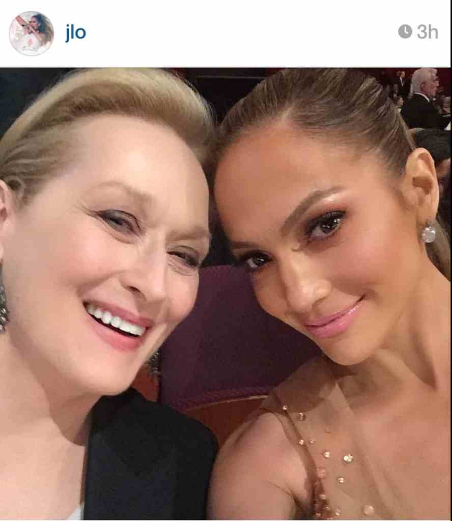 Selfie meryl streep Jennifer lopez