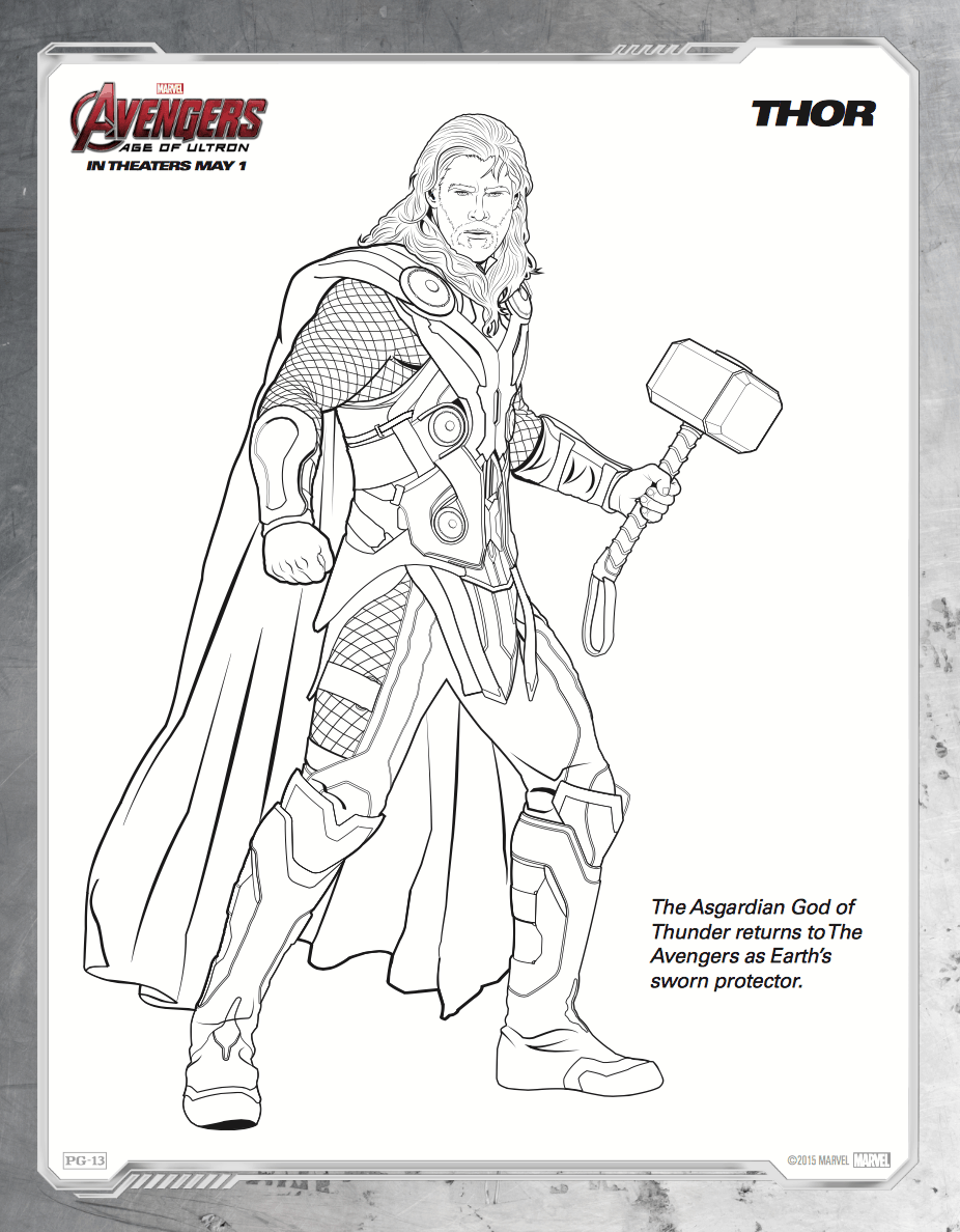 nick fury avengers colouring pages