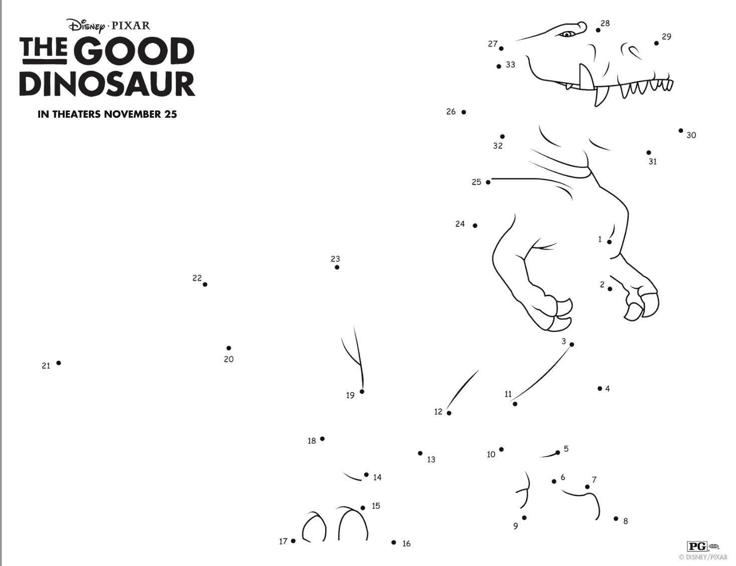 Actividades De Un Gran Dinosaurio Para Divertir Gratis A
