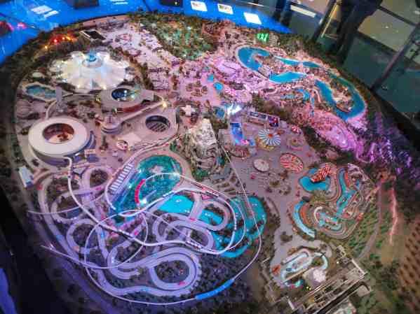 maqueta de Disneyland en museo de Walt Disney