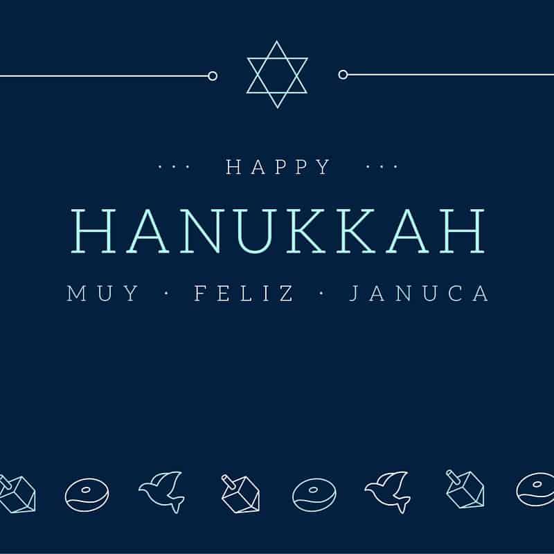 HANUKKAH JANUCA BILINGUAL